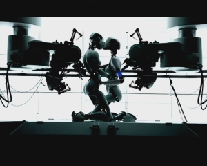 """Björk's twin cyborgs in the music video """"All is Full of Love"""""""