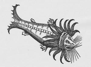 """image from """"Målarbok: Fantasi och Verklighet"""", bilder ur böcker i Skoklosters Slotts bibliotek"""